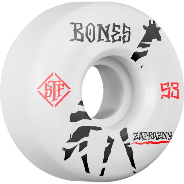 Bones Wheels Marek Zaprazny Pro STF V2 Giraffe White Skateboard Wheels - 53mm 103a (Set of 4)