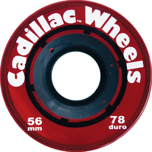 Cadillac Wheels Original Red Skateboard Wheels - 56mm 78a (Set of 4)