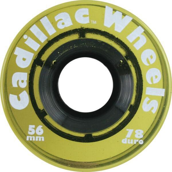 Cadillac Wheels Original Yellow Skateboard Wheels - 56mm 78a (Set of 4)
