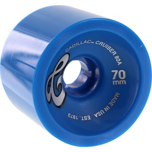 Cadillac Wheels Cruisers Blue Longboard Skateboard Wheels - 70mm 80a (Set of 4)