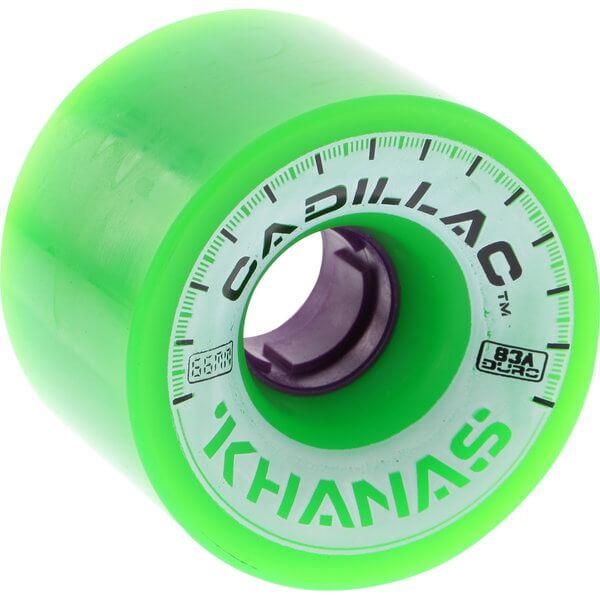 Cadillac Wheels Khana Green / Purple Skateboard Wheels - 66mm 83a (Set of 4)