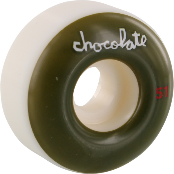 Chocolate Skateboards OG Chunk White Skateboard Wheels - 51mm 99a (Set of 4)