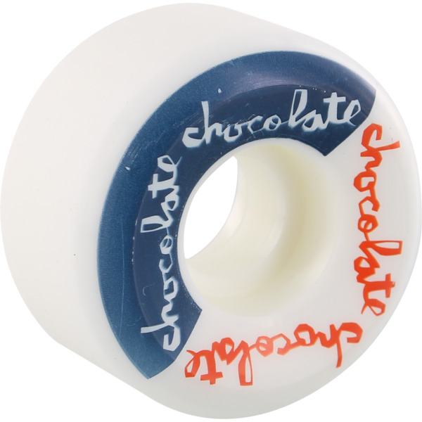 Chocolate Skateboards Split Conical White / Blue / Red Skateboard Wheels - 50mm 99a (Set of 4)