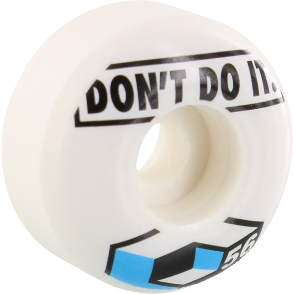 Consolidated Skateboards Don't Do It White Skateboard Wheels - 56mm 99a (Set of 4)