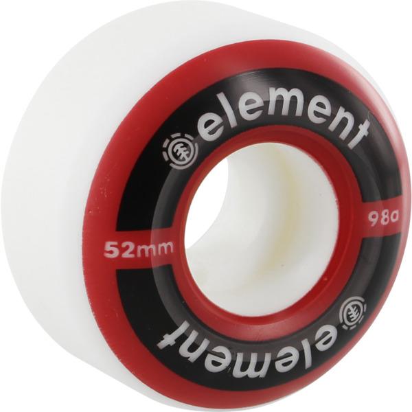 Element Skateboards Primo White Skateboard Wheels - 52mm 95a (Set of 4)