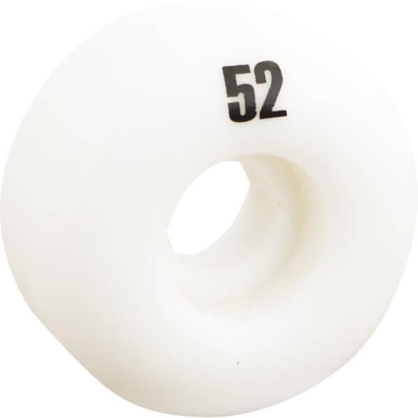 Essentials White Skateboard Wheels - 52mm 99a (Set of 4)