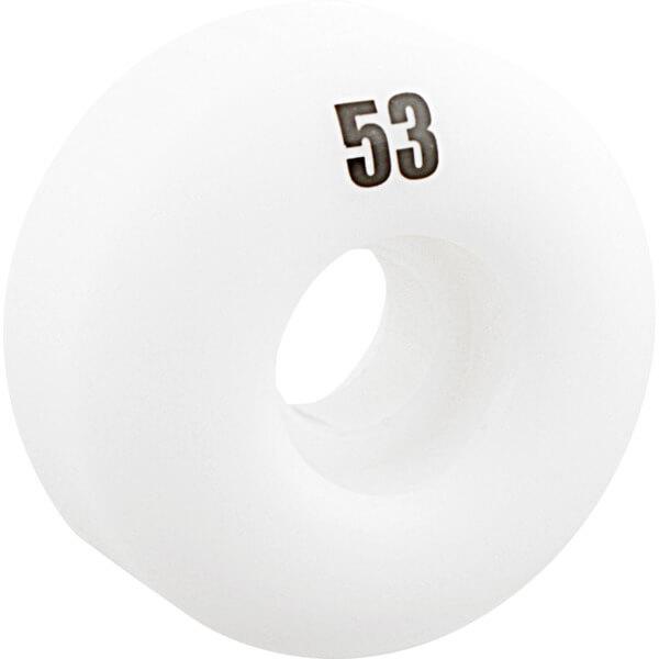 Essentials White Skateboard Wheels - 53mm 99a (Set of 4)