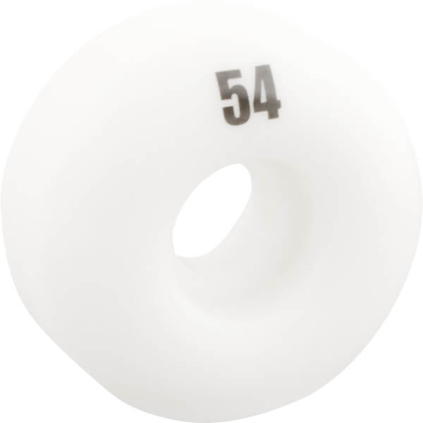 Essentials White Skateboard Wheels - 54mm 99a (Set of 4)