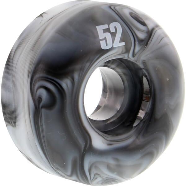 Essentials Black / White Swirl Skateboard Wheels - 52mm 99a (Set of 4)