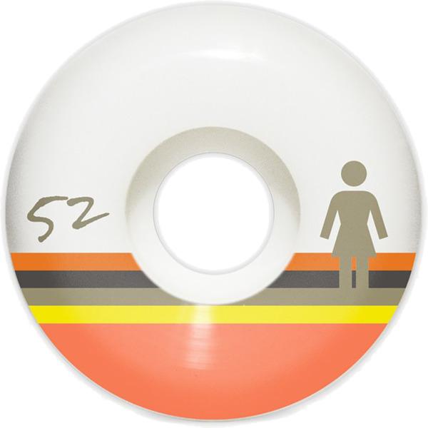 Girl Skateboards Horizon OG White Skateboard Wheels - 52mm 99a (Set of 4)