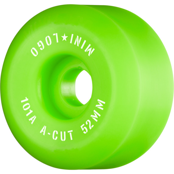 Mini Logo A-Cut Green Skateboard Wheels - 52mm 101a (Set of 4)
