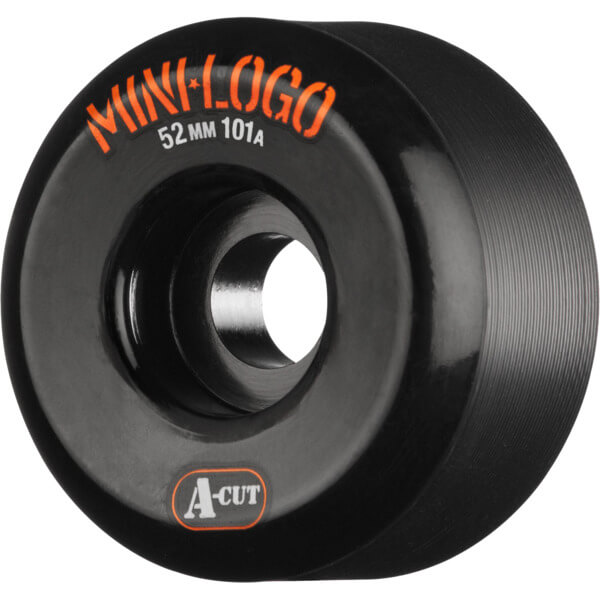 Mini Logo A-Cut Black Skateboard Wheels - 52mm 101a (Set of 4)