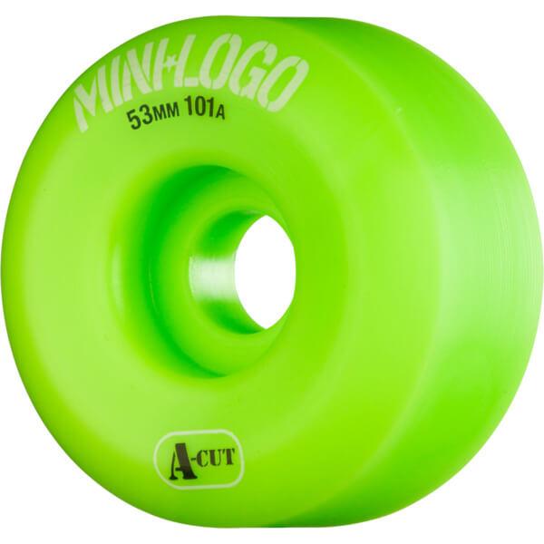 Mini Logo A-Cut Green Skateboard Wheels - 53mm 101a (Set of 4)