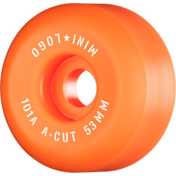Mini Logo A-Cut Orange Skateboard Wheels - 53mm 101a (Set of 4)