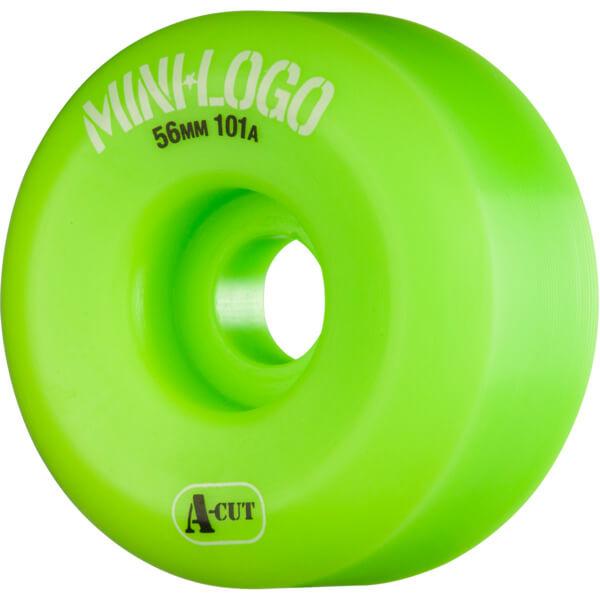 Mini Logo A-Cut Green Skateboard Wheels - 56mm 101a (Set of 4)