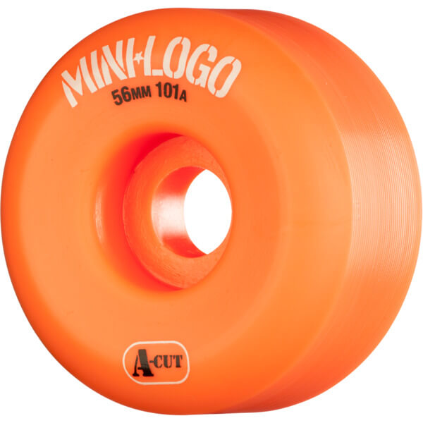Mini Logo A-Cut Orange Skateboard Wheels - 56mm 101a (Set of 4)