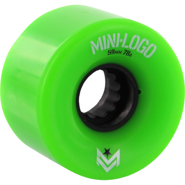 Mini Logo A.W.O.L. A-Cut Green Skateboard Wheels - 59mm 78a (Set of 4)