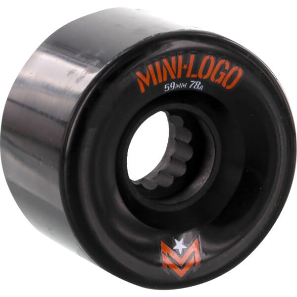 Mini Logo A.W.O.L. A-Cut Black Skateboard Wheels - 59mm 78a (Set of 4)