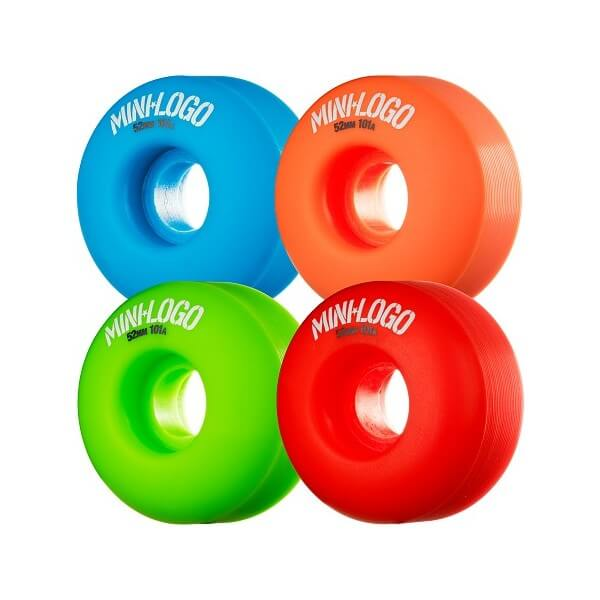 Mini Logo C-Cut Green / Red / Blue / Orange Skateboard Wheels - 52mm 101a (Set of 4)
