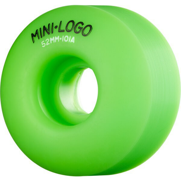 Mini Logo C-Cut Green Skateboard Wheels - 52mm 101a (Set of 4)
