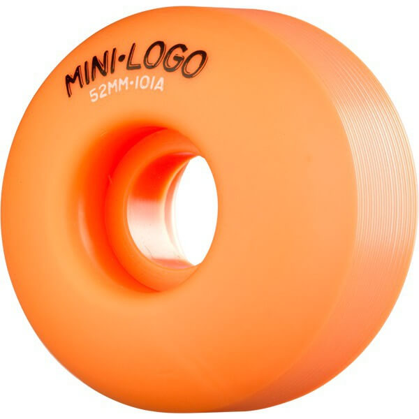 Mini Logo C-Cut Orange Skateboard Wheels - 52mm 101a (Set of 4)