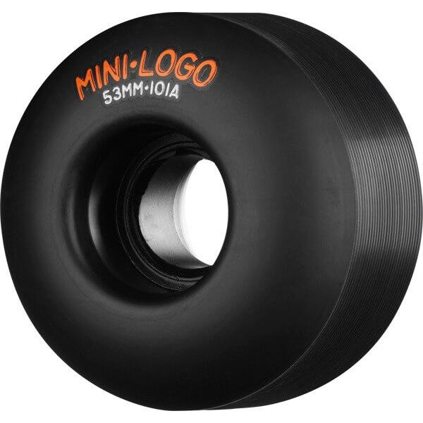 Mini Logo C-Cut Black Skateboard Wheels - 53mm 101a (Set of 4)