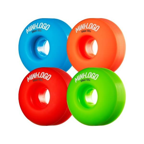 Mini Logo C-Cut Green / Red / Blue / Orange Skateboard Wheels - 54mm 101a (Set of 4)