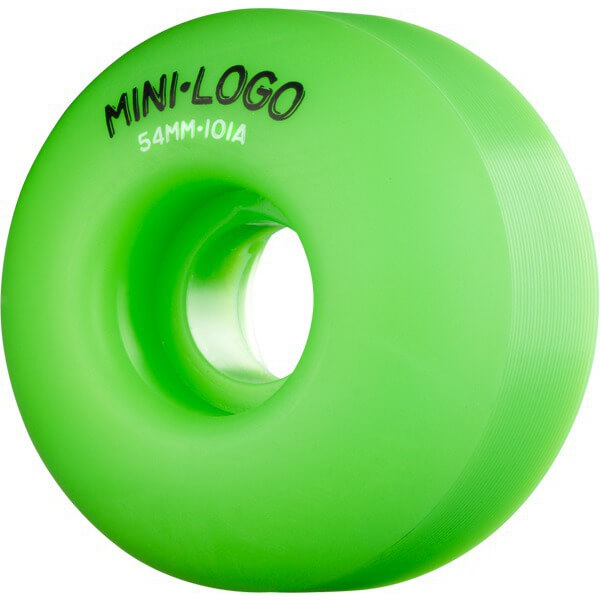 Mini Logo C-Cut Green Skateboard Wheels - 54mm 101a (Set of 4)