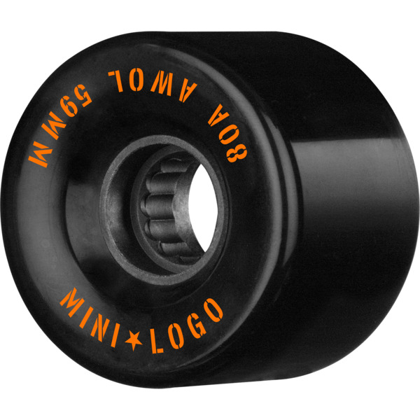 Mini Logo ATF A.W.O.L Black Skateboard Wheels - 59mm 80a (Set of 4)