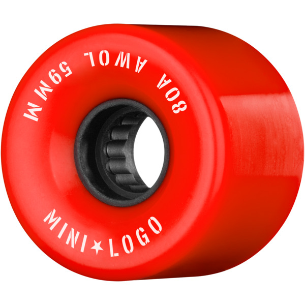 Mini Logo ATF A.W.O.L Red Skateboard Wheels - 59mm 80a (Set of 4)
