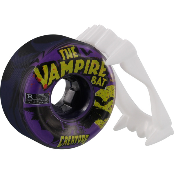 OJ Wheels Vampire Bat Bloodsuckers Black Skateboard Wheels - 54mm 97a (Set of 4)
