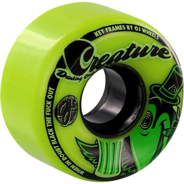 Oj Wheels Creature Drinking Club Keyframe Green Skateboard