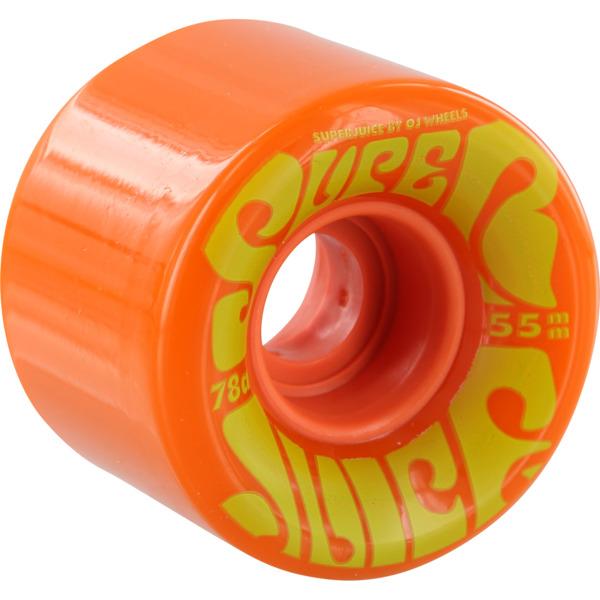 OJ Wheels Mini Super Juice Orange Skateboard Wheels - 55mm 78a (Set of 4)
