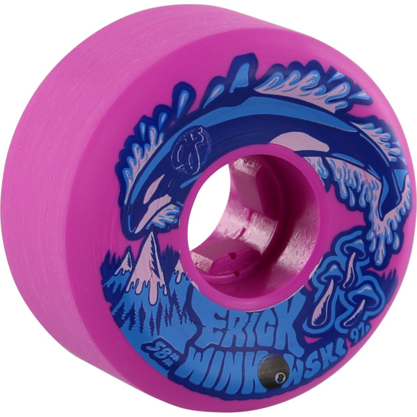OJ Wheels Erick Winkowski Killer Whale Pink Skateboard Wheels - 58mm 97a (Set of 4)