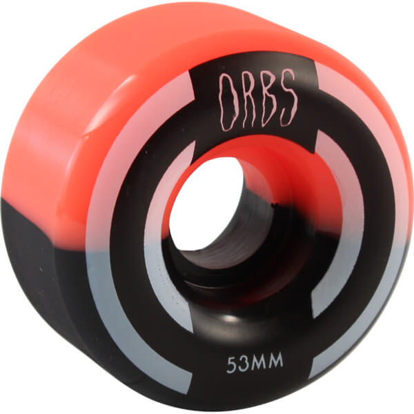 Orbs Wheels Apparitions Split Coral / Black Skateboard Wheels - 53mm 99a (Set of 4)