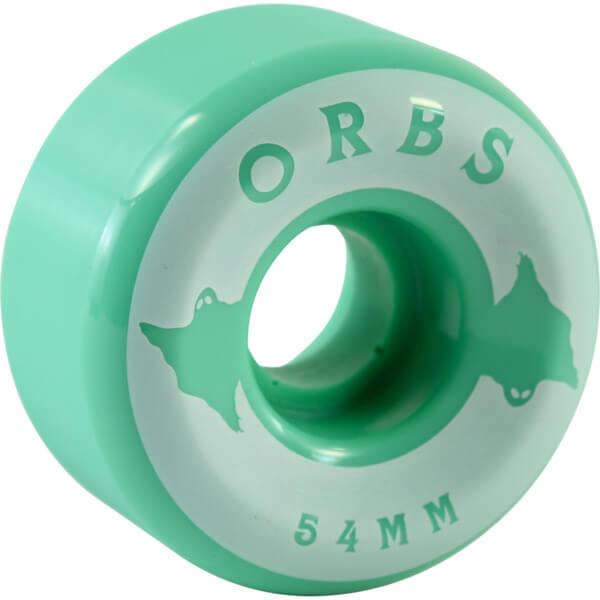Orbs Wheels Specters Solid Mint Skateboard Wheels - 54mm 99a (Set of 4)