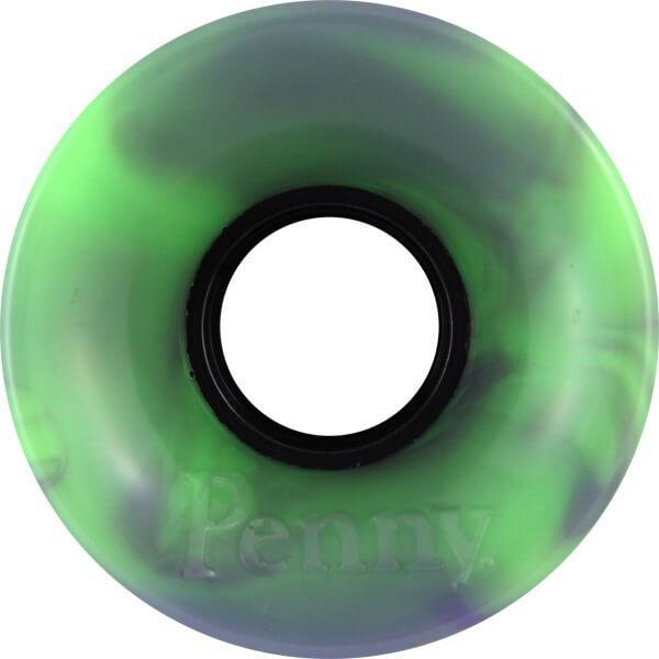 Penny Skateboards Swirl Green Purple Skateboard Wheels