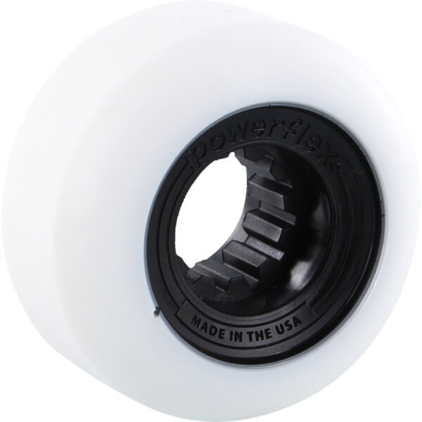 Powerflex Skateboards Gumball White / Black Skateboard Wheels - 52mm 83b (Set of 4)