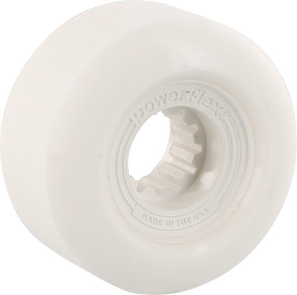 Powerflex Skateboards Gumball White Skateboard Wheels - 52mm 83b (Set of 4)
