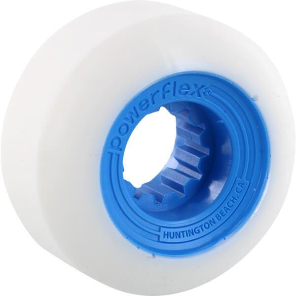 Powerflex Skateboards Gumball White / Blue Skateboard Wheels - 56mm 83b (Set of 4)
