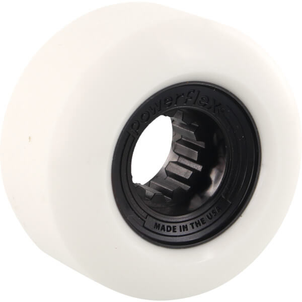 Powerflex Skateboards Gumball White / Black Skateboard Wheels - 58mm 83b (Set of 4)
