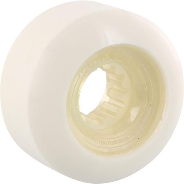 Powerflex Skateboards Rock Candy White / Clear Skateboard Wheels - 56mm 84b (Set of 4)