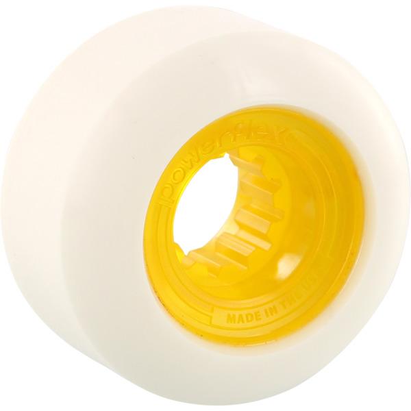 Powerflex Skateboards Rock Candy White / Clear Yellow Skateboard Wheels - 58mm 84b (Set of 4)