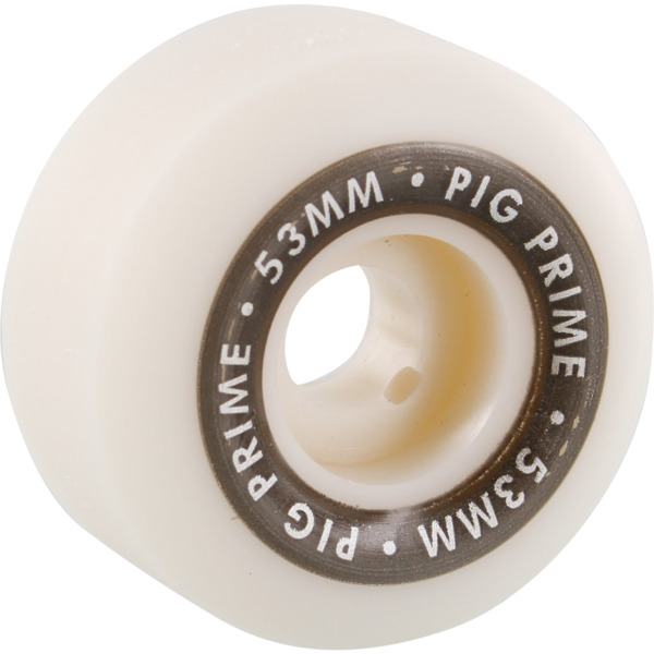 Pig Wheels Prime Urethane White Skateboard Wheels - 53mm 103a (Set of 4)