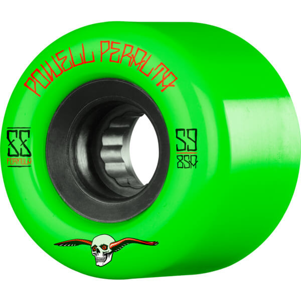 Powell Peralta G-Slides Green / Black Skateboard Wheels - 59mm 85a (Set of 4)
