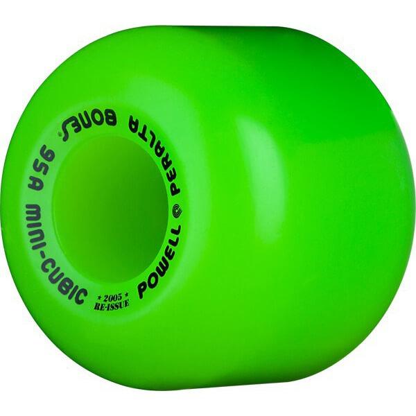 Powell Peralta Mini-Cubic Green Skateboard Wheels - 64mm 95a (Set of 4)