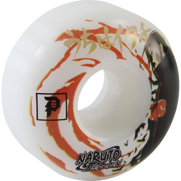 Primitive Skateboarding Naruto White Skateboard Wheels - 53mm 99a (Set of 4)