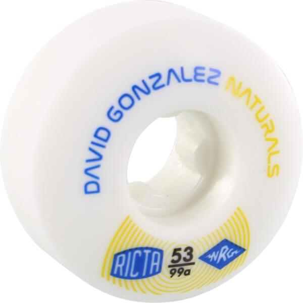 Ricta Wheels David Gonzalez Naturals II White Skateboard Wheels - 53mm 99a (Set of 4)