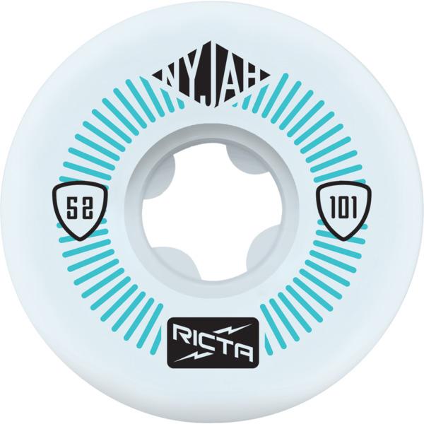 Ricta Wheels Nyjah Huston Pro White Skateboard Wheels - 52mm 101a (Set of 4)
