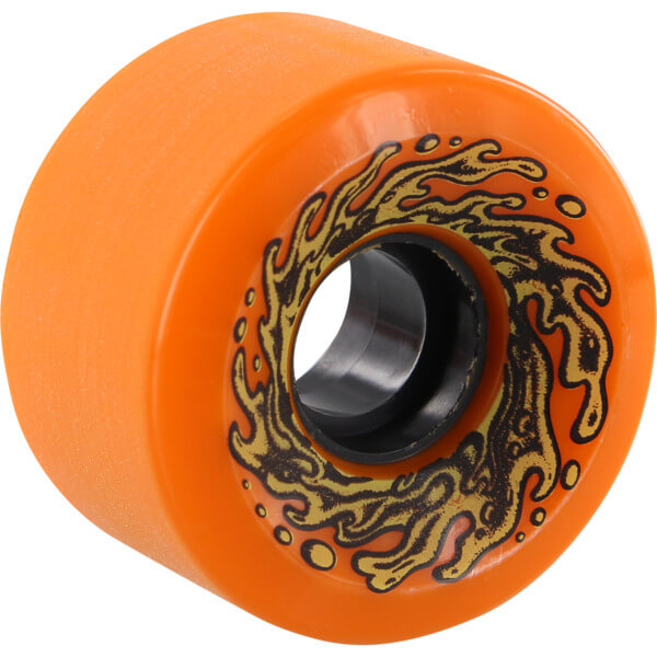 Santa Cruz Skateboards Vomits Mini Slime Balls Orange / Glow Skateboard Wheels - 60mm 78a (Set of 4)